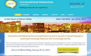 The Conversational Interaction Conference will be held next week at San Jose